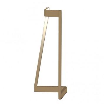Lámpara de mesa Minimal tono dorado con luz LED