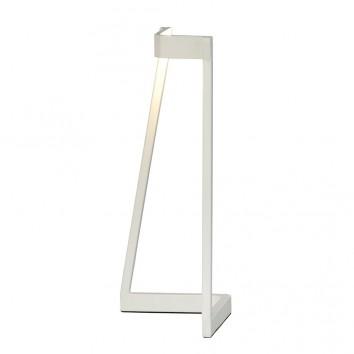 Lámpara de mesa Minimal tono blanco con luz LED