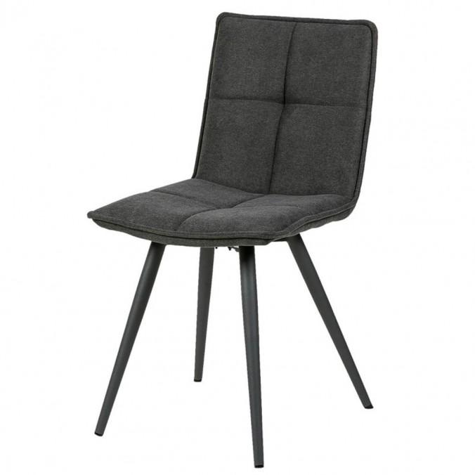 Silla diseño ZOE tapizado gris y patas color negro