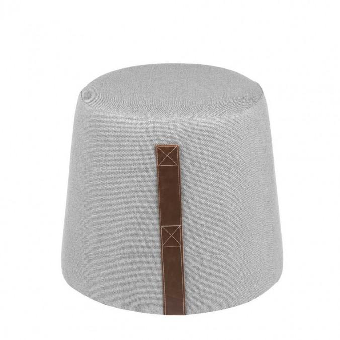 Puff cónico 44cm tapizado gris claro con asa