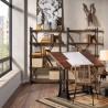 Mesa de arquitecto estilo industrial altura regulable 130x70x77-105h
