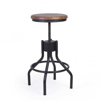 Taburete estilo industrial altura regulable 35cm diámetro