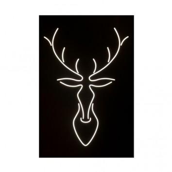 Cuadro diseño ciervo con luz LED