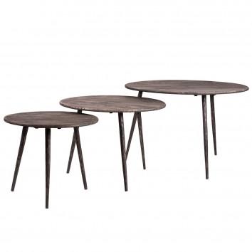 Set 3 mesas auxiliares estilo vintage 471-56-43cm