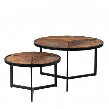 Set 2 mesas centro de estilo étnico 50-70cm