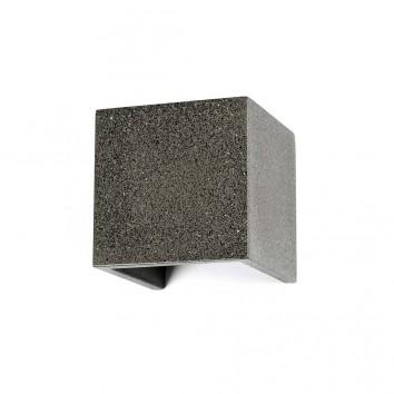 Aplique de pared exterior LED 12W gris piedra