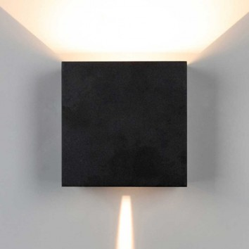 Aplique pared exterior LED serie Davos XL negro