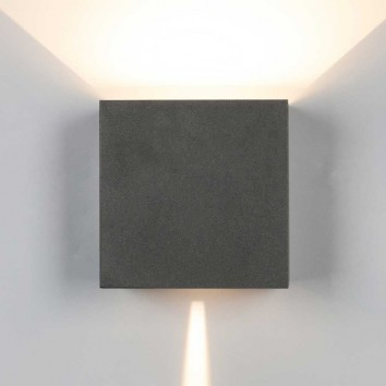 Aplique pared exterior LED serie Davos XL gris