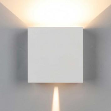 Aplique pared exterior LED serie Davos XL blanco