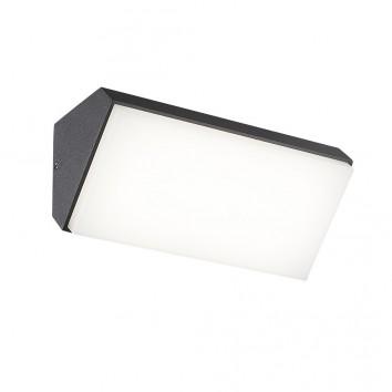 Aplique de pared horizontal LED serie Solden gris