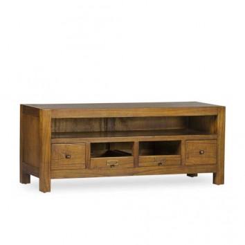 Mueble TV 4 cajones estilo colonial mindi 110x40x45h