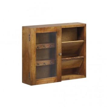 Mueble de pared para llaves y cartas mindi 50x10x40h