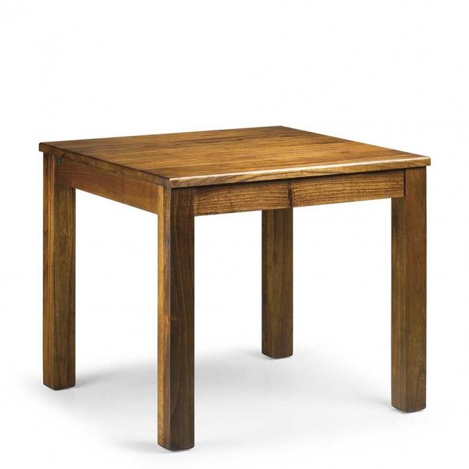 Mesa de comedor esilo colonial madera mindi 90x90x78h