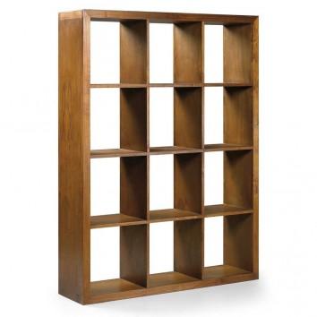Estantería de pie estilo colonial madera mindi 135x35x180h