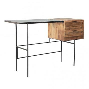 Escritorio estilo industrial madera y hierro - 120x45x78h