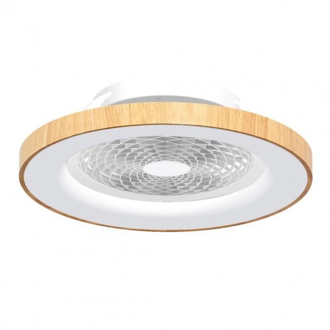 Ventilador de techo con luz LED Tibet Wood
