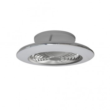 Ventilador de techo con LED Alisio mini Silver