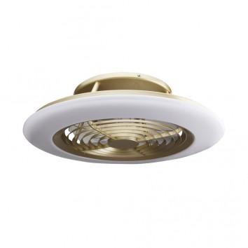 Ventilador de techo con LED Alisio Brass