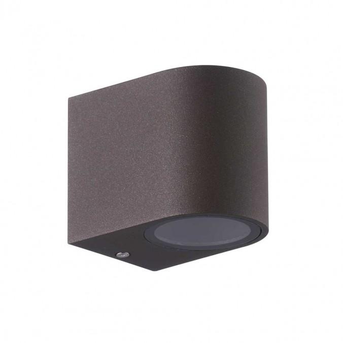 Aplique pared exterior 1 luz curvo marrón