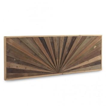 Cabezal de abeto reciclado diseño lineal en relieve 165x60cm