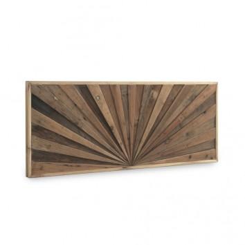 Cabezal de abeto reciclado diseño lineal en relieve 145x60cm