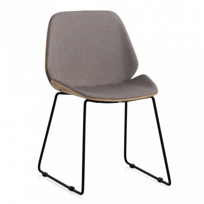 Silla de diseño estilo mid century asiento tapizado 51x54x82h