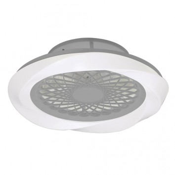 Ventilador de techo 62cm con LED Boreal Silver