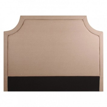 Cabezal 160cm tapizado tela de algodón beige