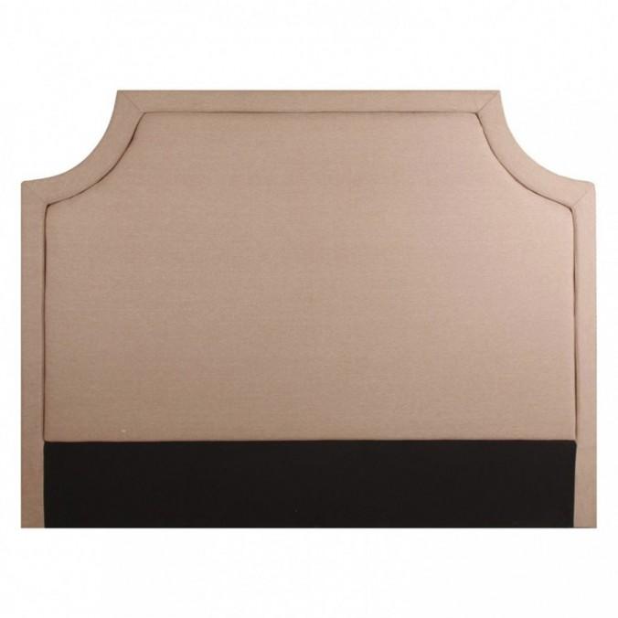 Cabezal 160cm tapizado en tela algodón beige