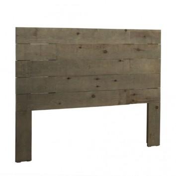 Cabezal  recto 110-185cm madera de abeto y mdf