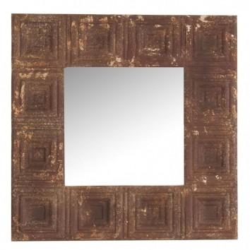 Espejo 60x60cm marco metal óxido cuadros