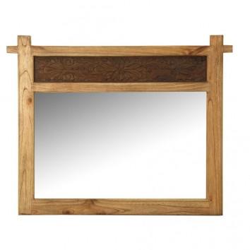 Espejo 114x90cm madera de mindi tallada