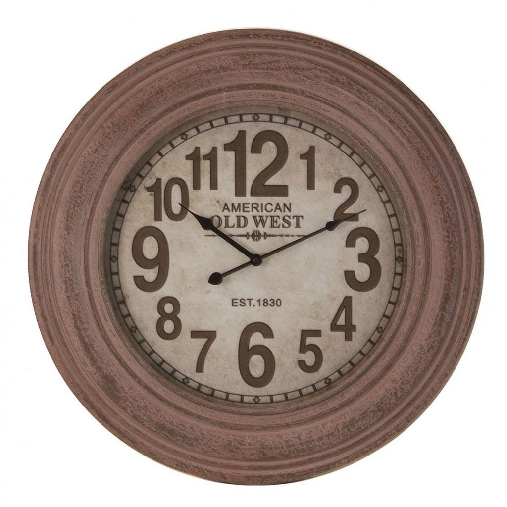 Reloj de pared vintage 60cm madera erizho - Relojes de pared ...