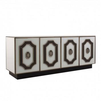 Buffet 180cm estilo Art déco en vidrio y acero