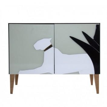 Buffet 90cm estilo Art déco en vidrio pantera derecha
