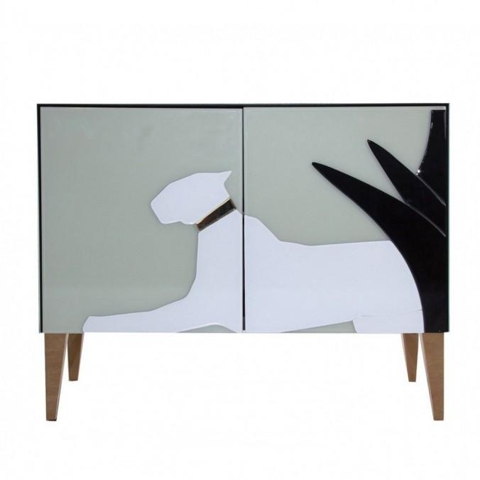 Buffet 90cm estilo Art déco en vidrio