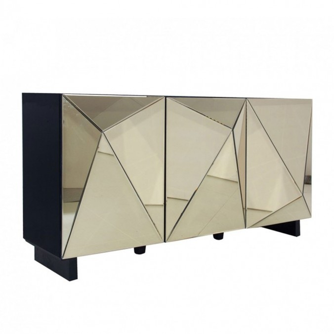 Aparador 152cm estilo Art déco en vidrio