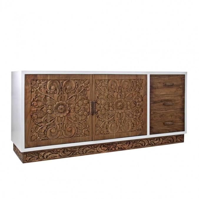 Buffet étnico 185cm madera mindi tallada
