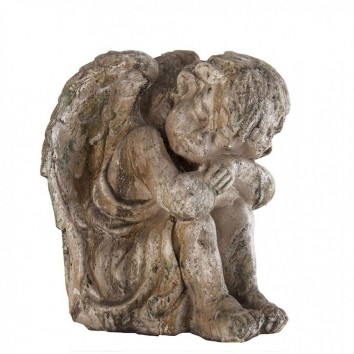 Figura angel dormido estilo provenzal 36cm resina