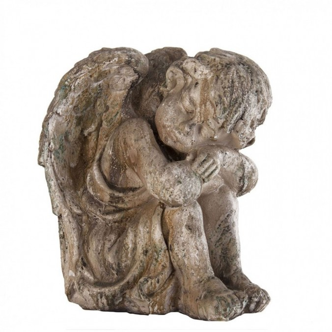 Figura angel dormido estilo provenzal 26cm resina