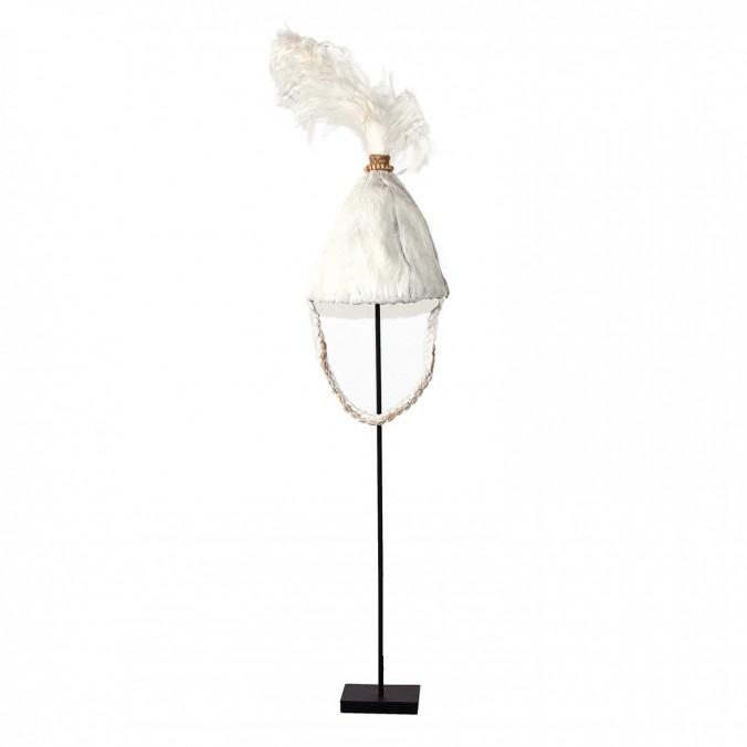 Figura de sombrero étnico 109cm de plumas y fibra