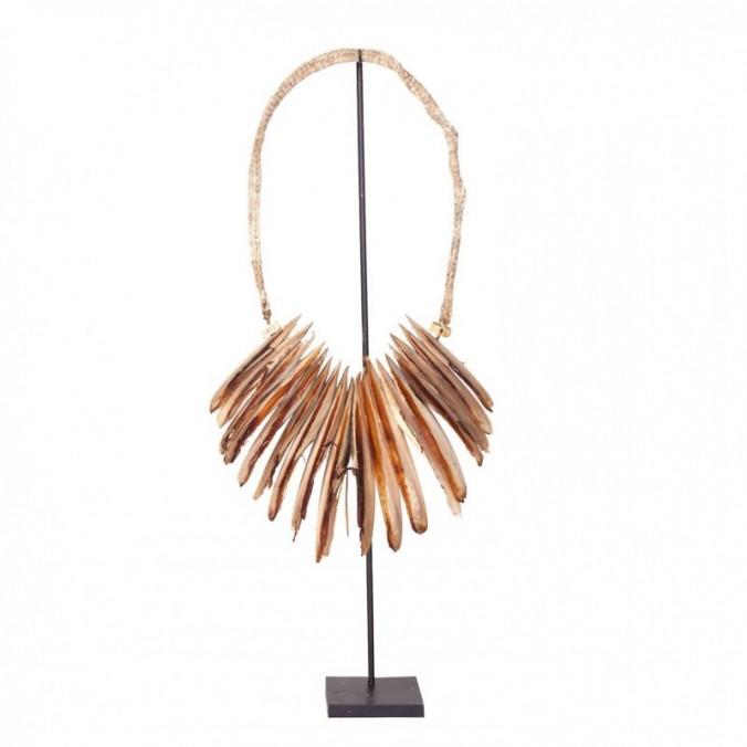 Figura collar étnico 80cm hecho con hueso de calamar