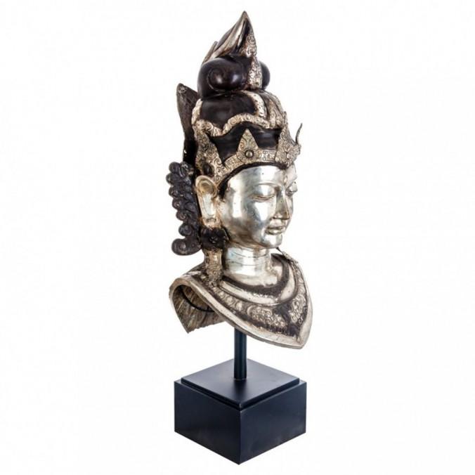 Escultura busto Balinesa 87cm estilo oriental