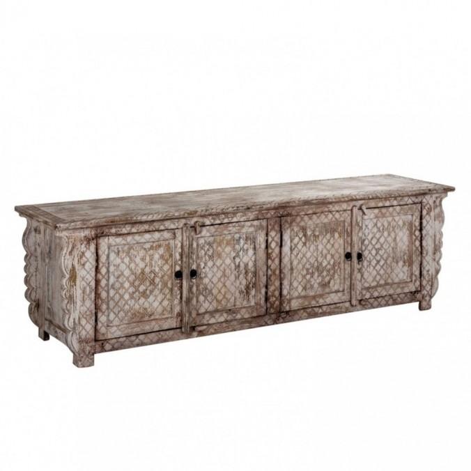 Mueble TV estilo oriental 200cm madera de mango