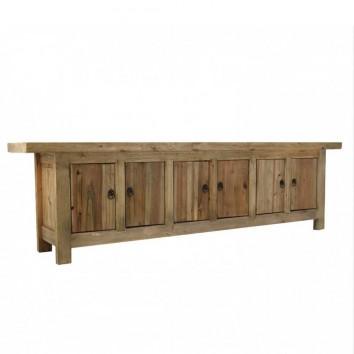 Mueble TV estilo oriental 230cm pino macizo
