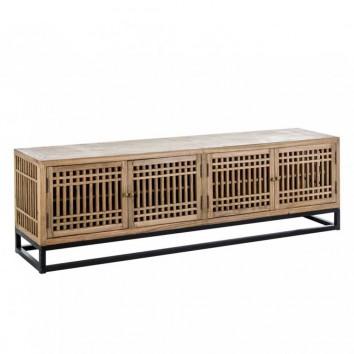 Mueble TV estilo japonés 200cm  madera de olmo
