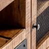 Mueble TV estilo industrial 170cm  madera de mango