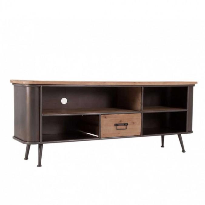 Mueble TV de estilo vintage150cm madera y hierro
