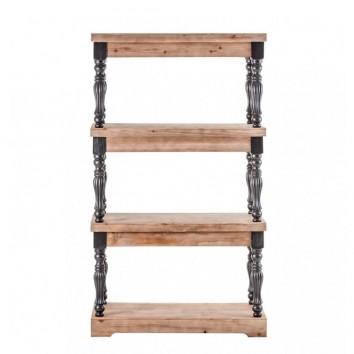 Estantería estilo neoclásico 60x138cm madera abeto