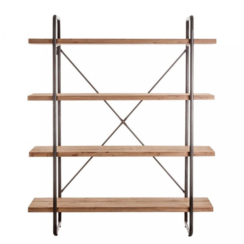 Estanteria estilo industrial 160x191cm hierro y madera - Estanterias de hierro ...